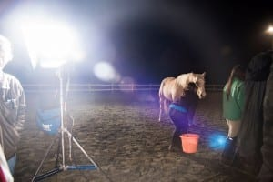 Dreamers first night on set of Unbridled