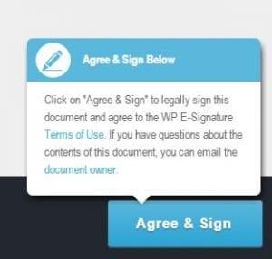 agree sign blue